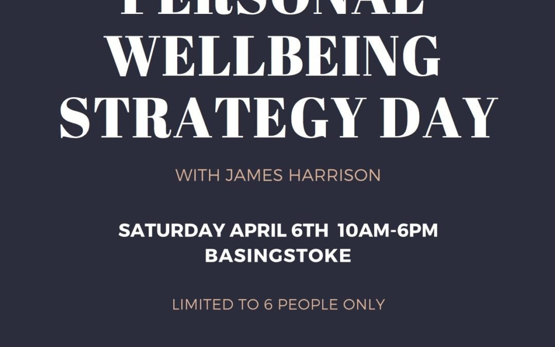 Sign up to your personal wellbeing strategy day: Invest in your future
