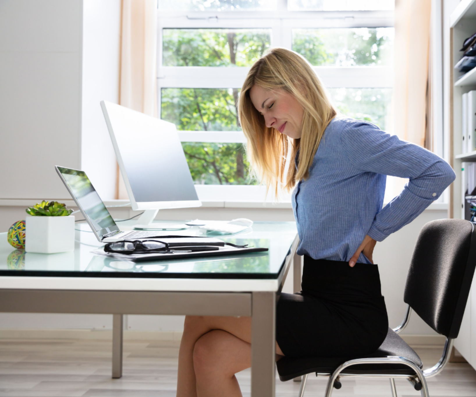 Working from home can cause back pain